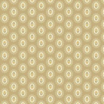 Andover Fabric - Edyta Sitar - Sonoma - Medallions - Bisque - 100% Cotton - 1/4m+