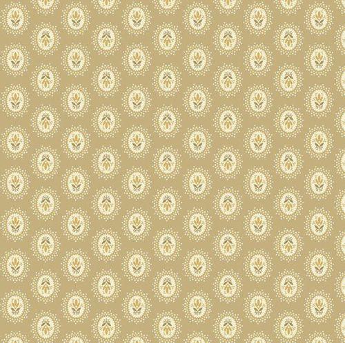 Andover Fabric - Edyta Sitar - Sonoma - Medallions - Bisque - 100% Cotton -