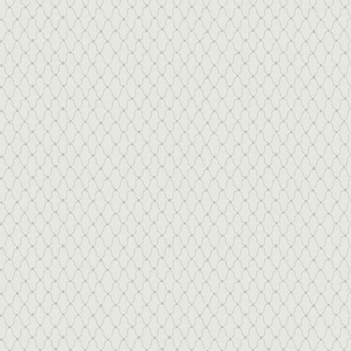 Andover Fabric - Cloud White - Macrame - Grey - 100% Cotton - 1/4m+