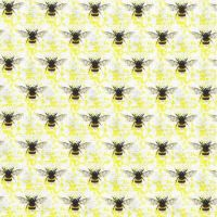 Nutex Fabric - Honey Bee - Yellow - 100% Cotton - 1/4m+