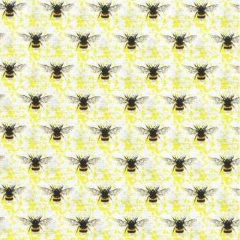 Nutex Fabric - Honey Bee - Yellow - 100% Cotton - 1/4m+