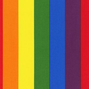 Robert Kaufman Fabric - Rainbow Pride Stripes - 100% Cotton - 1/4m+