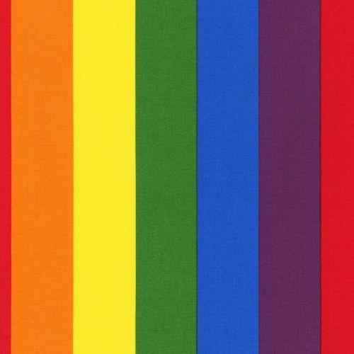 Robert Kaufman Fabric - Rainbow Pride Stripes - Cotton - 1/4m+