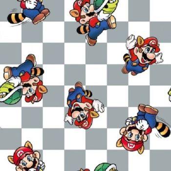 Nintendo Fabric - Super Mario - Mario in Power - 100% Cotton  - 1/4m+