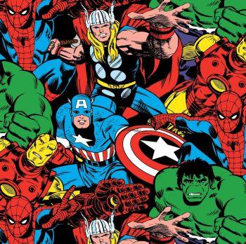 Marvel Avengers Comic Fabric - Comic Pack - Multi - 100% Cotton - 1/4m+