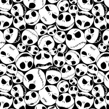 Disney Fabric - Nightmare Before Christmas - Packed Jack - 100% Cotton - 1/4m+