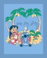 Disney Fabric - Lilo and Stitch Panel - 100% Cotton