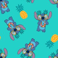 Disney Fabric - Lilo and Stitch - Stitch Pineapple - 100% Cotton - 1/4m+