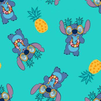Disney Fabric - Lilo and Stitch - Stitch Pineapple - 100% Cotton - 1/4m+
