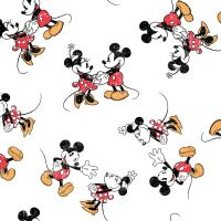 Disney Fabric - Mickey and Minnie Mouse - Scattered - 100% Cotton - 1/4m+