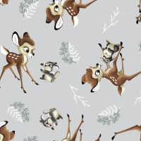 Disney Fabric - Bambi and Thumper Toss - 100% Cotton - 1/4m+