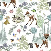 Disney Fabric - Bambi and Friends - 100% Cotton - 1/4m+