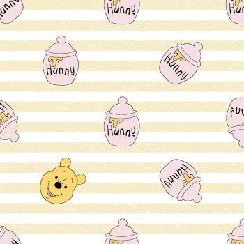 Disney Fabric - Winnie the Pooh - Hunny - 100% Cotton - 1/4m+