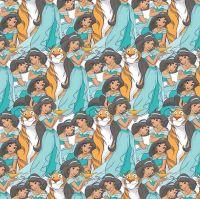 Disney Fabric - Princess Jasmine Packed - 100% Cotton - 1/4m+