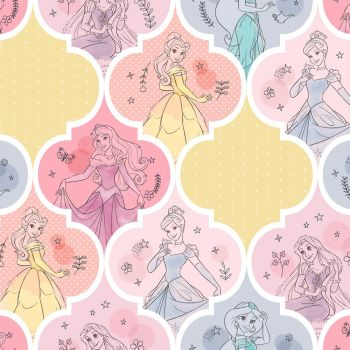 Disney Fabric - Pretty Princess Patch - 100% Cotton - 1/4m+