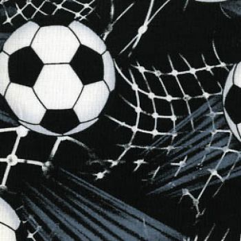 Timeless Treasures Fabric - World Cup Footballs and Nets - 100% Cotton - 1/4m+