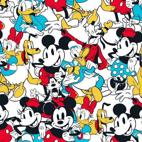 Disney Fabric - Mickey and Friends - Sensational 6 Snapshot - 100% Cotton -
