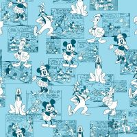 Disney Fabric - Mickey and Friends - Sensational 6 Comic Strip - 100% Cotton - 1/4m+