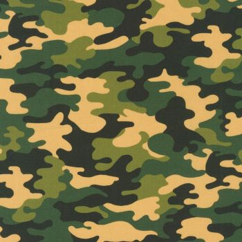 Robert Kaufman Fabric - Green Camo Digital - 100% Cotton - 1/4m+