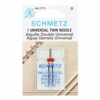 Schmetz Needles - Universal Twin Needle - Size 4mm / 100