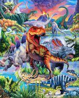 Dino World Fabric - Dinosaur Panel - Digital Print - 90cm - 100% Cotton