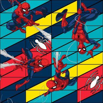 Marvel Fabric - Spiderman Swing - 100% Cotton - 1/4m+