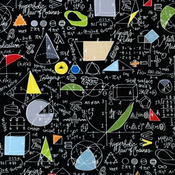 Timeless Treasures Fabric - Maths and Science - Maths - 100% Cotton - 1/4m+