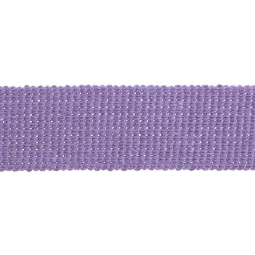 Webbing - Cotton Acrylic - Light Purple - 30mm Wide - Metre