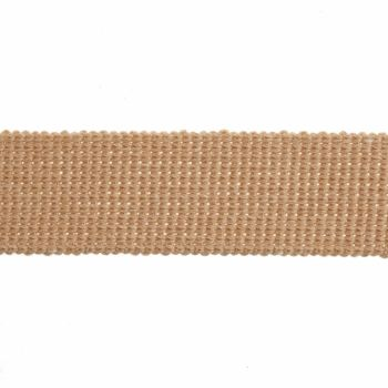 Webbing - Cotton Acrylic - Tan - 30mm Wide - Metre