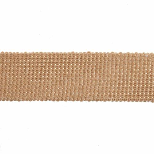Webbing - Cotton Acrylic - Tan - 30mm Wide - Metre