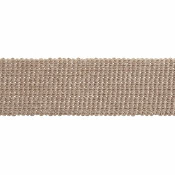 Webbing - Cotton Acrylic - Stone - 30mm Wide - Metre