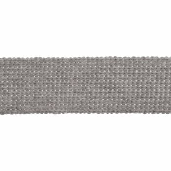 Webbing - Cotton Acrylic - Silver - 30mm Wide - Metre