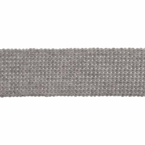 Webbing - Cotton Acrylic - Silver - 30mm Wide - Metre