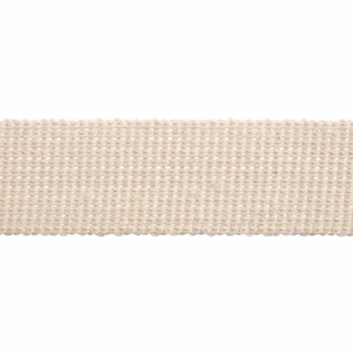 Webbing - Cotton Acrylic - Natural - 30mm Wide - Metre