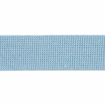 Webbing - Cotton Acrylic - Powder Blue - 30mm Wide - Metre