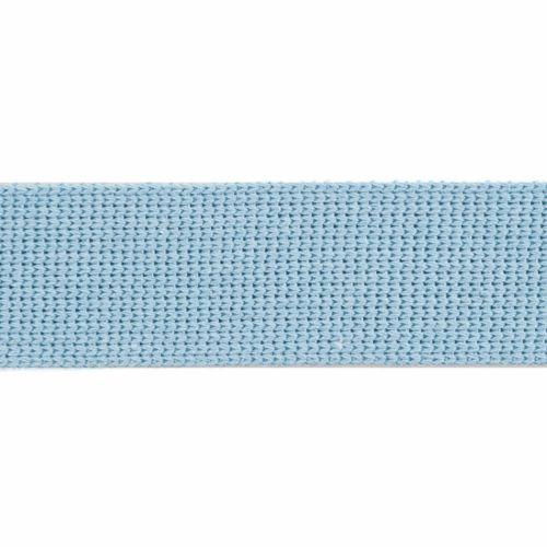 Webbing - Cotton Acrylic - Powder Blue - 30mm Wide - Metre