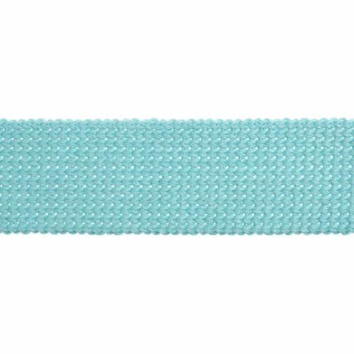 Webbing - Cotton Acrylic - Light Aqua - 30mm Wide - Metre