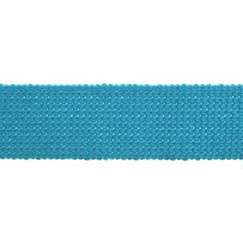 Webbing - Cotton Acrylic - Turquoise - 30mm Wide - Metre