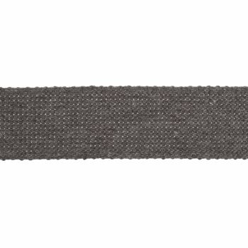 Webbing - Cotton Acrylic - Grey - 30mm Wide - Metre