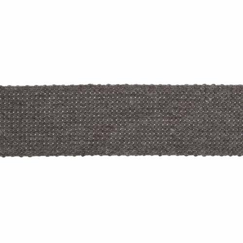 Webbing - Cotton Acrylic - Grey - 30mm Wide - Metre