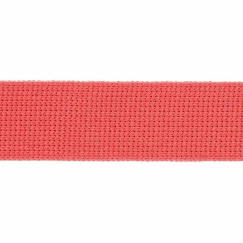 Webbing - Cotton Acrylic - Coral - 30mm Wide - Metre
