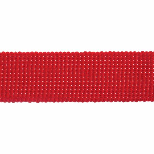 Webbing - Cotton Acrylic - Red - 40mm Wide - Metre
