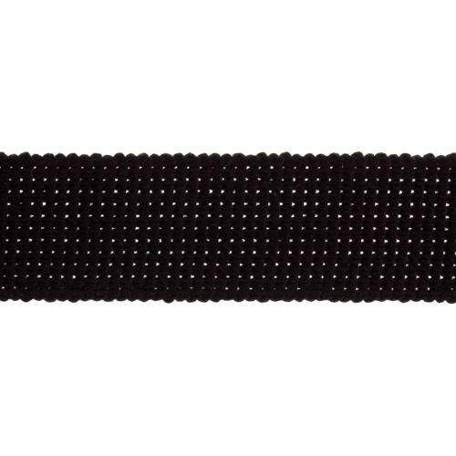 Webbing - Cotton Acrylic - Black - 40mm Wide - Metre