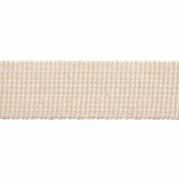 Webbing - Cotton Acrylic - Natural - 40mm Wide - Metre