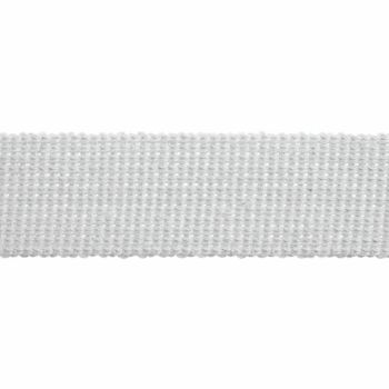 Webbing - Cotton Acrylic - White - 40mm Wide - Metre