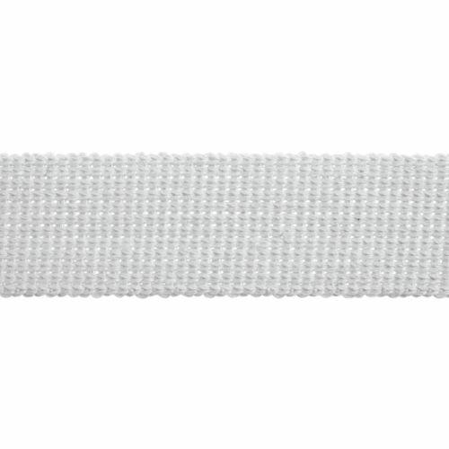 Webbing - Cotton Acrylic - White - 40mm Wide - Metre