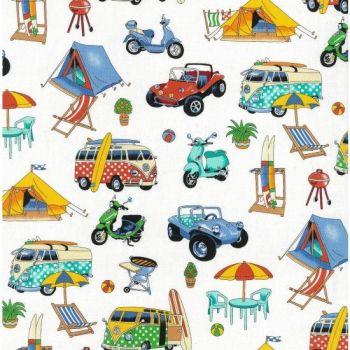 Nutex Fabric - Getaway Beachside - 100% Cotton - 1/4m+