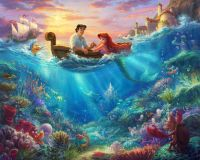 Disney Fabric - Disney Dreams - Ariel The Little Mermaid Digitally Printed Panel - 100% Cotton