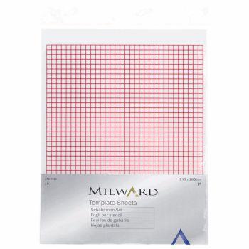 Milward - Plastic Template Sheets x6 - 21.5cm x 28cm