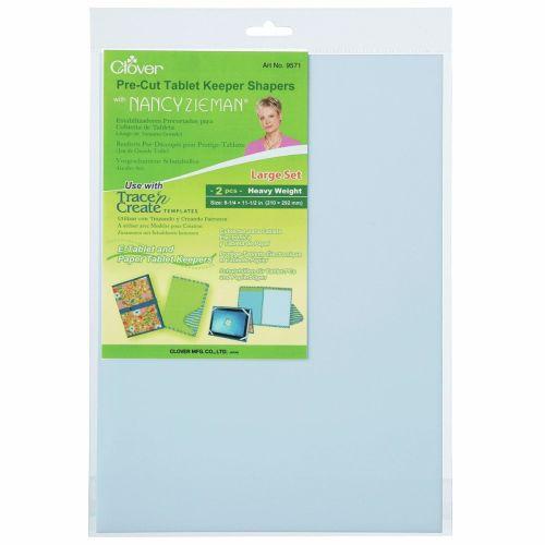 Clover - Pre Cut Tablet Keeper Shapers - 2 pieces - 21cm x 29.2cm